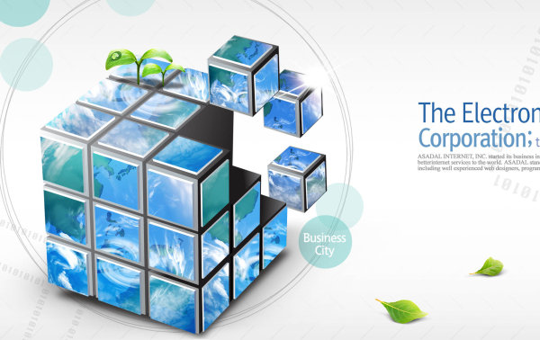 Department of Business Class: Cube PSD layered material