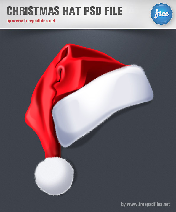 Exquisite Christmas hats psd layered material