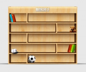 Exquisite bookcase psd layered material