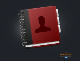 Exquisite notebook icon psd layered material