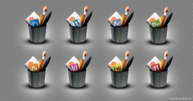 Exquisite pen holder icon psd layered material