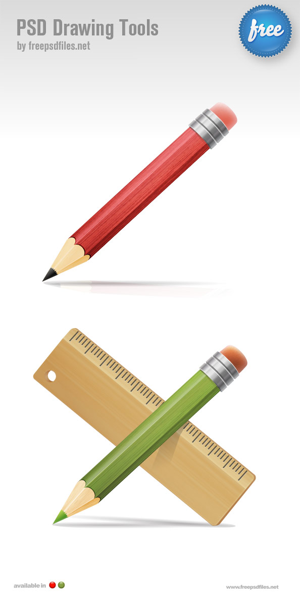 Exquisite pencil psd layered material