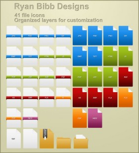 File format icon psd material