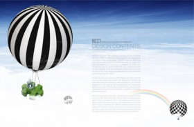 Financial Commerce layered template air hot air balloon