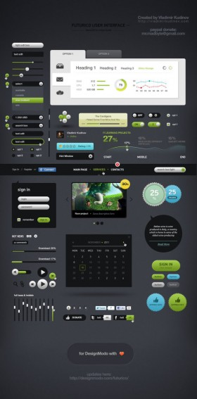 Futurico User Interface Pro (awesome UI material)