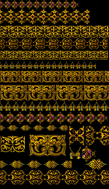 Golden gorgeous lace layered material psd