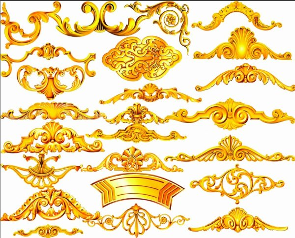 Golden ornamentation psd layered material