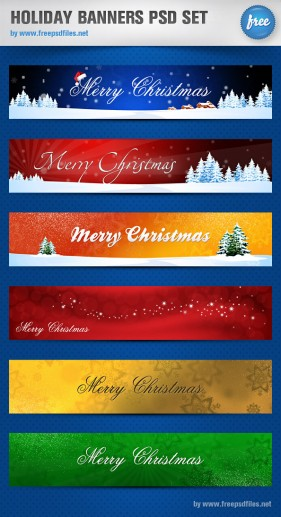 Gorgeous Christmas banner psd layered material