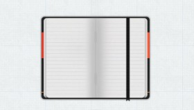Gorgeous notepad icon psd layered material