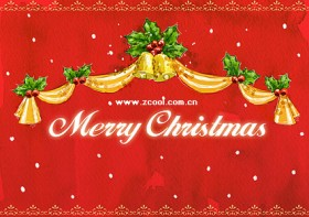 Hand painted Christmas posters psd layered material  4