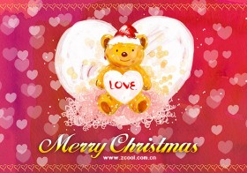 Hand painted Christmas posters psd layered material  8