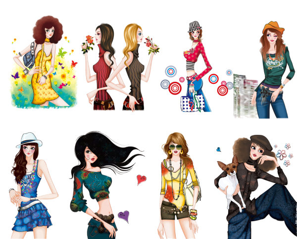 Hand painted fashion women 4 PicsNG Images