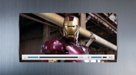 Iron Man video player UIPSD layered