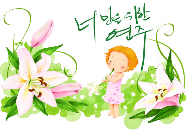 Korean children illustrator psd material  28