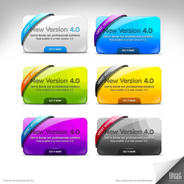 Multi color pages decorated module psd layered material  3