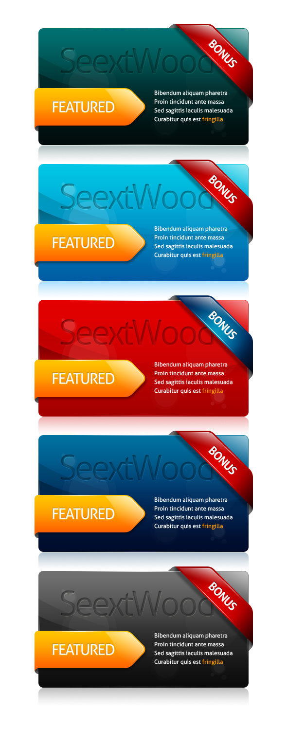 Multi color pages decorated module psd layered material