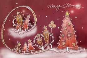 Pastels, hand painted Christmas Illustration PSD layered  7