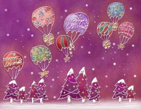 Pastels, hand painted Christmas Illustration PSD layered  8