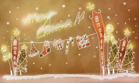 Pastels, hand painted Christmas Illustration PSD layered  9