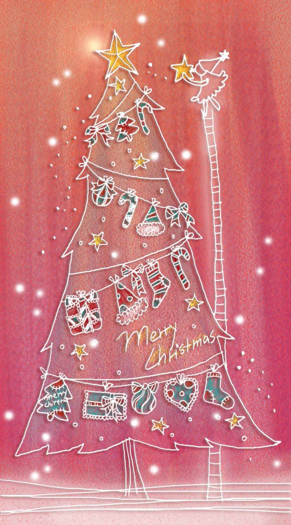 Pastels, hand painted Christmas illustration layered PSD  2