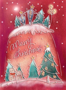 Pastels, hand painted Christmas illustration layered PSD  4