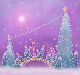 Pastels, hand painted Christmas illustration layered PSD  5