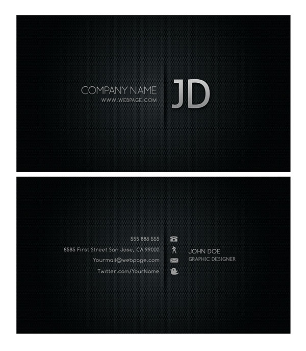 Psd layered material cool business card templates