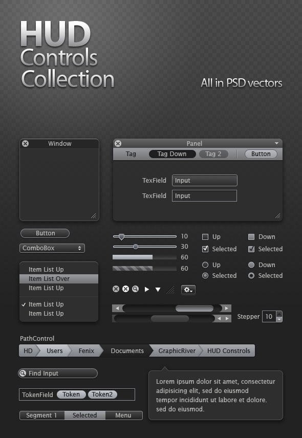 Refined and practical web elements 04   Psd layered material