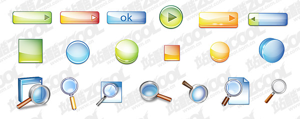 Stereo button topic cool icon psd layered material