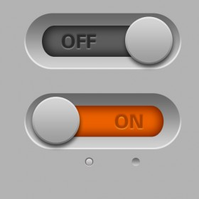 Switch button psd layered material