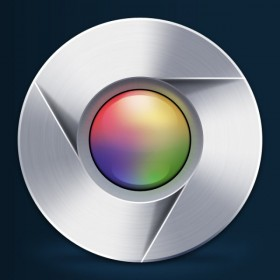 The Google Chrome psd layered material