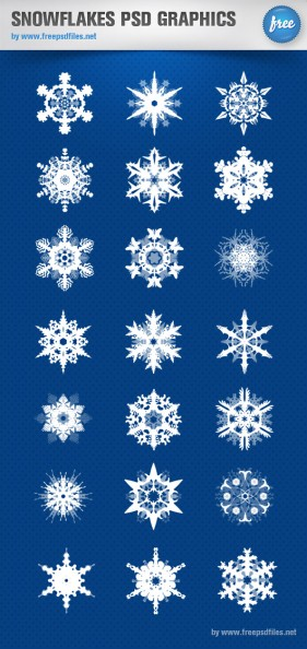 The beautifully snowflake patterns psd layered material