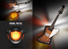 The cool guitar audio PSD material