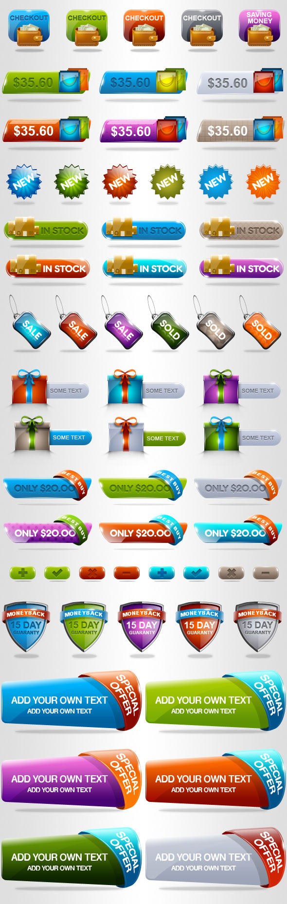 The crystal texture Shopping theme button psd layered material