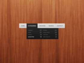 The delicate navigation bar   PSD layered material