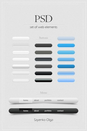 The delicate web design elements PSD pask free