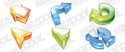 The dimensional arrow theme cool icon psd layered material