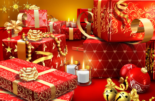 The exquisite festive spree albums PSD layered material