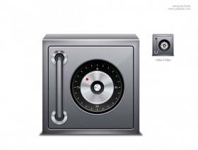 The exquisite safes icon psd layered material