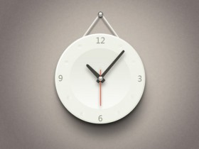 The minimalist clock icon psd layered material