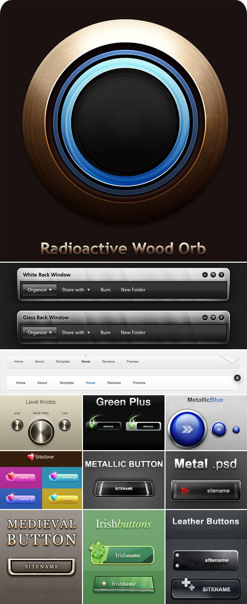 The pretty Web design elements psd layered material  3