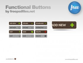 The retro wood texture button psd layered material