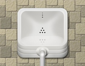 The urinal icon psd layered material