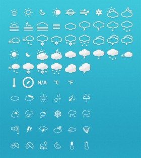 The weather icon Year   psd layered