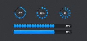 Two formats progress bar PSD layered material