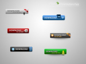 Web2.0 page download button material PSD