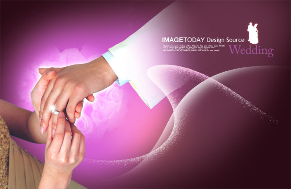 Wedding theme PSD layered material  4