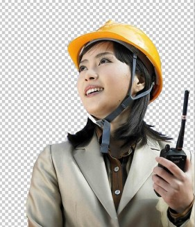 Female engineers psd layered material
