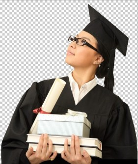 Psd layered material of the female students to wear glasses