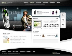 Smudge ink blue fashion shopping website template ps